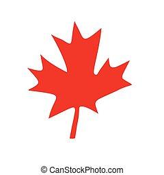canadian red maple leaf. Comic book cartoon pop art retro ...