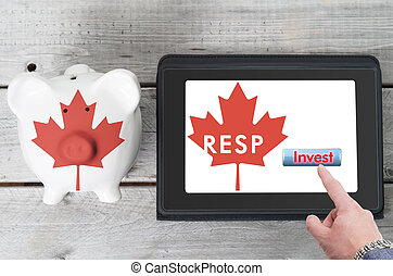 Canadian Registered Education Savings Plan concept with...