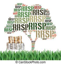 Canadian Registered Retirement Savings Plan concept word cloud