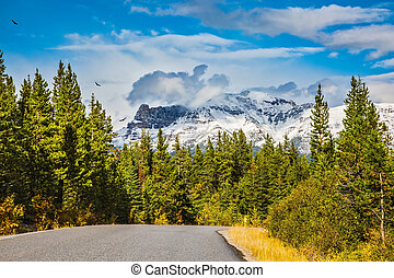 Canadian Rockies in autumn day