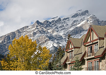 Canadian Rocky Mountains - Towering Rocky Mountains covered...