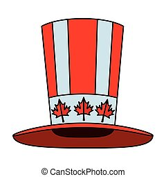 canadian tophat culture isolated icon vector illustration...