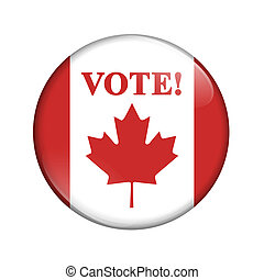 Canadian vote flag badge button