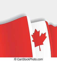 Canadian waving Flag. Vector illustration.