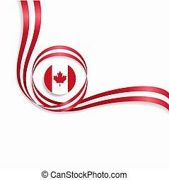 Canadian wavy flag background. Vector illustration.