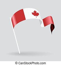 Canadian wavy flag. Vector illustration.