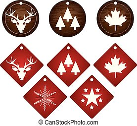 canadian winter label tag - North America canadian vector...