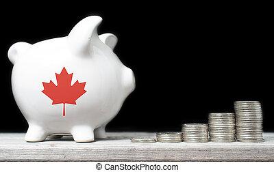 canadien, économie, concept