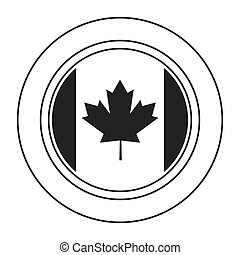 canadien, écusson, icône
