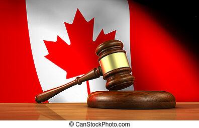 canadien, droit & loi, et, justice, concept