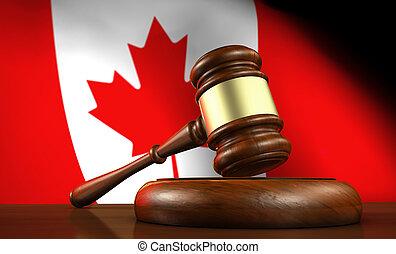 canadien, droit & loi, procès, et, justice