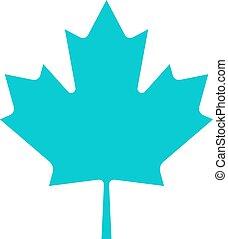 canadien, feuille, érable, signe