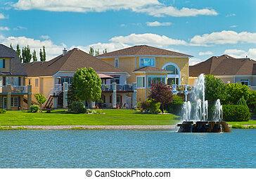 canadiense, lujo, casas, en, manitoba