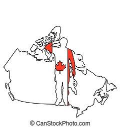 canadiense, saludo