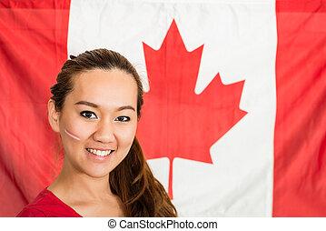 canadiense, ventilador deportivo