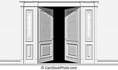 canal alpha, appartement, porte, ouverture