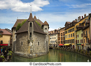 Canal at Annecy in France