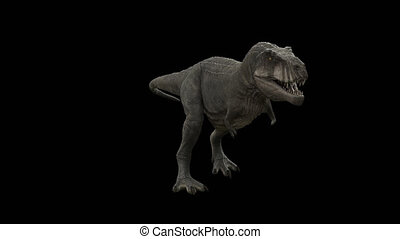 canal, boucle, dinosaure, t-rex, alpha, marche