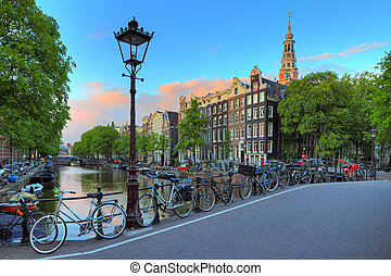 Canal bridge lantern Amsterdam - Amsterdam cityscape at ...