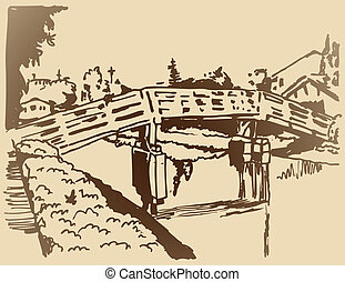 Canal Bridge Sketch