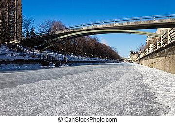 canal, Canadá, UNESCO, local, rideau, Ottawa, herança, mundo...