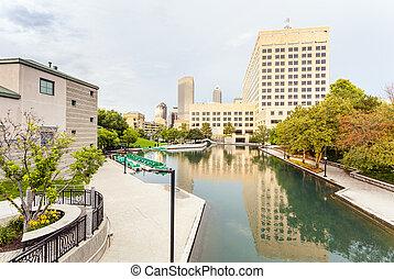 canal central, estados unidos de américa, indianapolis,...