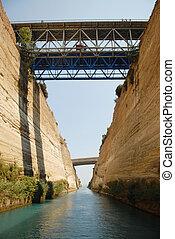 canal, corinthe
