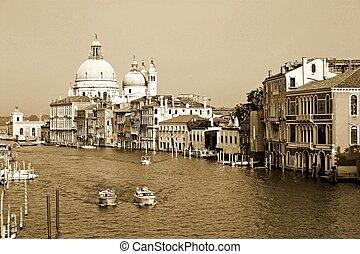 canal, dans, venise, italie