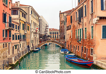 canal, em, veneza