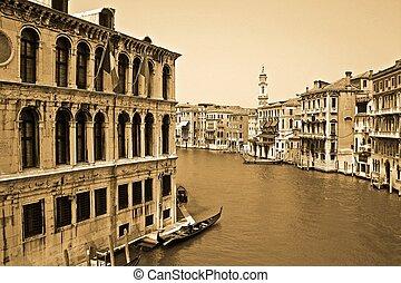 canal, em, veneza, itália