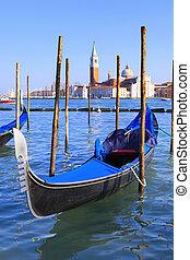 canal, góndolas, venecia, magnífico