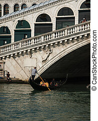 Canal Grande and Rialto bridge - Venice Italy
