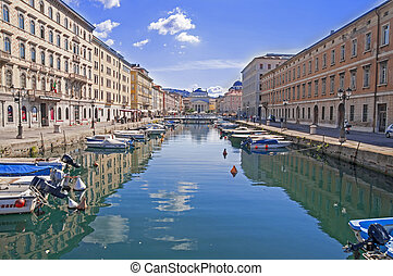 Trieste - Canal Grande in Trieste - city in Italy