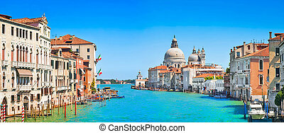 Canal Grande in Venice, Italy - Panoramic view of Canal...