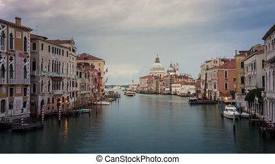 canal, grandiose, horizon, venise, temps, italie, défaillance