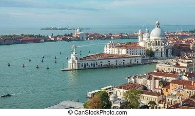 canal, grandiose, venise, temps, italie, défaillance