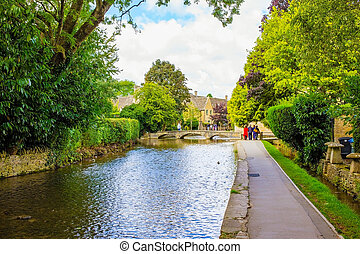Canal in an English village