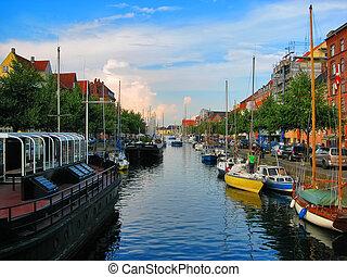 Canal in Copenhagen, Denmark