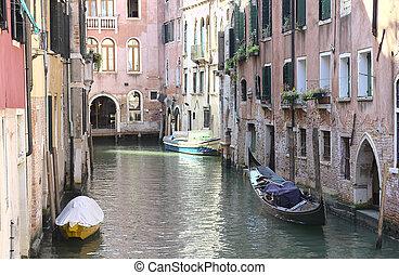 Canal in Venice, Veneto, Italy