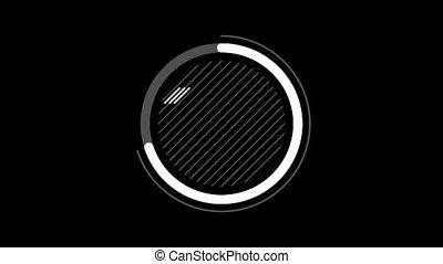 canal, infographic, -, diagramme, alpha, cercle, élément