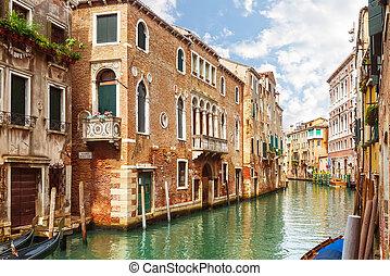 canal, italia, venecia