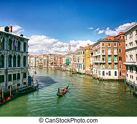 canal, magnífico, italia, venecia