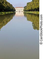 "canal, munich, alemania, ""oberschleissheim"", palacio"
