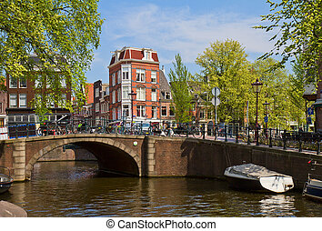 canal ring in Amsterdam, Netherland