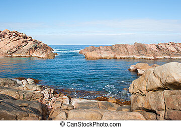 canal, rocas, margaret, río, australia