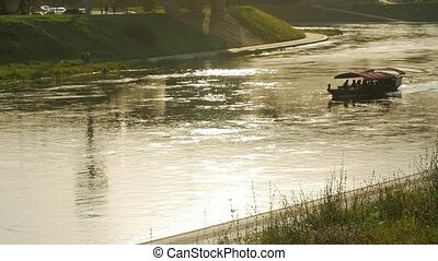 Canal scene with narrowboats - Canal scene with narrowboat...