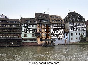 canal scenery in Strasbourg