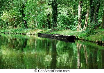 canal, spreewald, barco