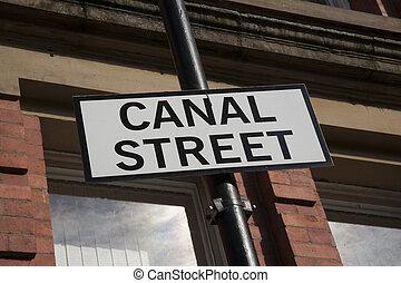 Canal Street Sign, Manchester