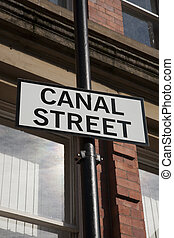 Canal Street Sign, Manchester